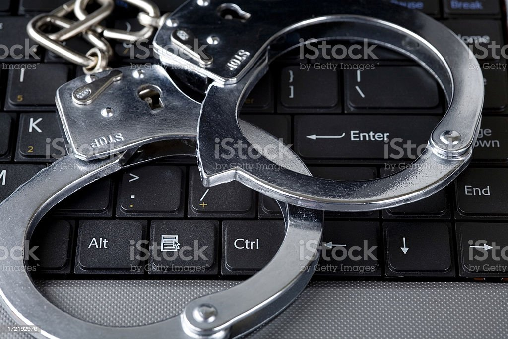 computer crime royalty-free stock photo