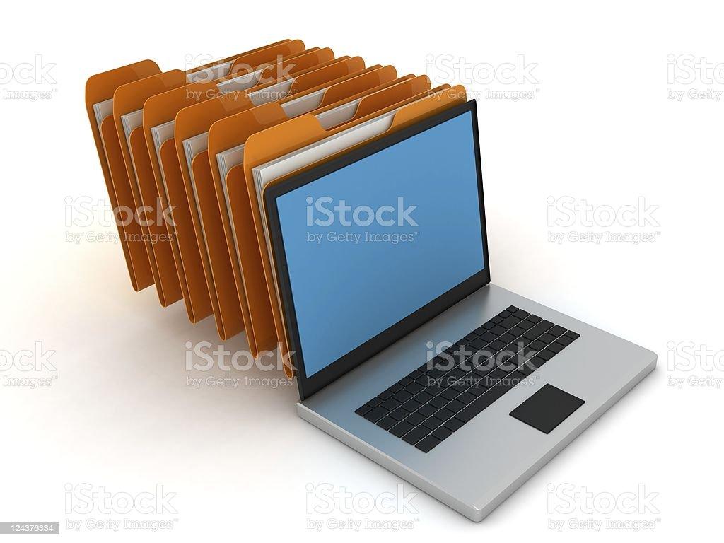 Computer Data File royalty-free stock photo