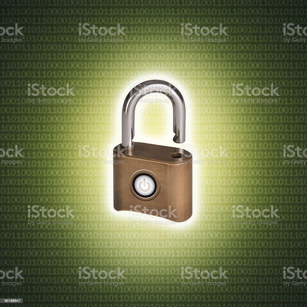 Computer data security 2 stock photo