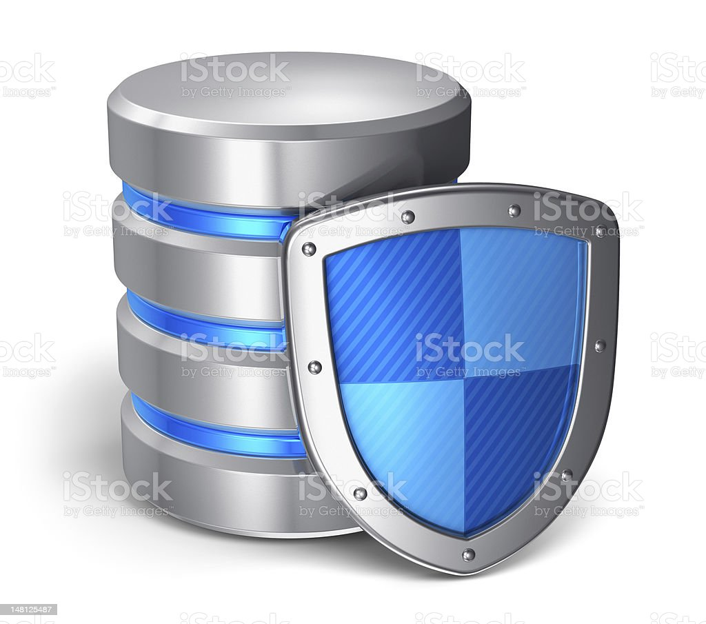 A 3D computer data security concept royalty-free stock photo