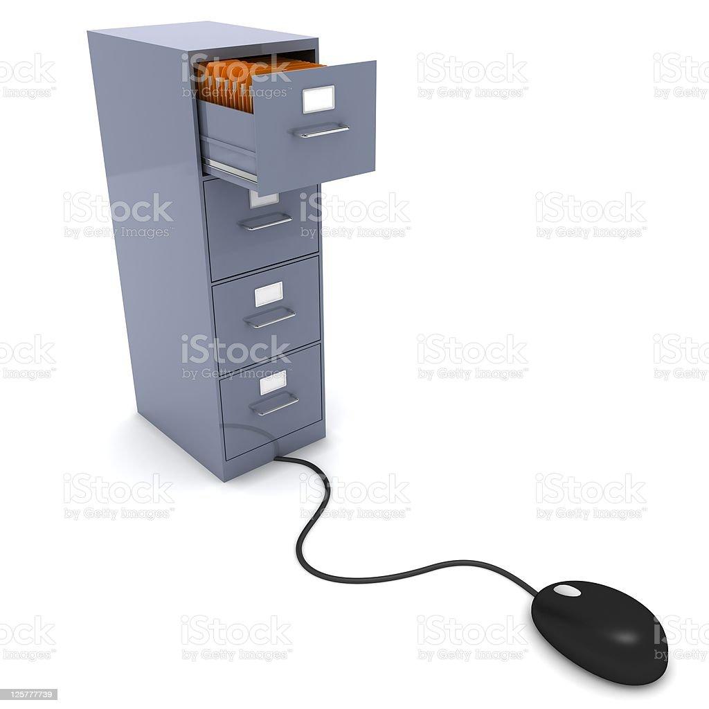 Computer Data Storage royalty-free stock photo