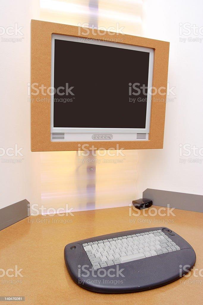 Computer desk royalty-free stock photo