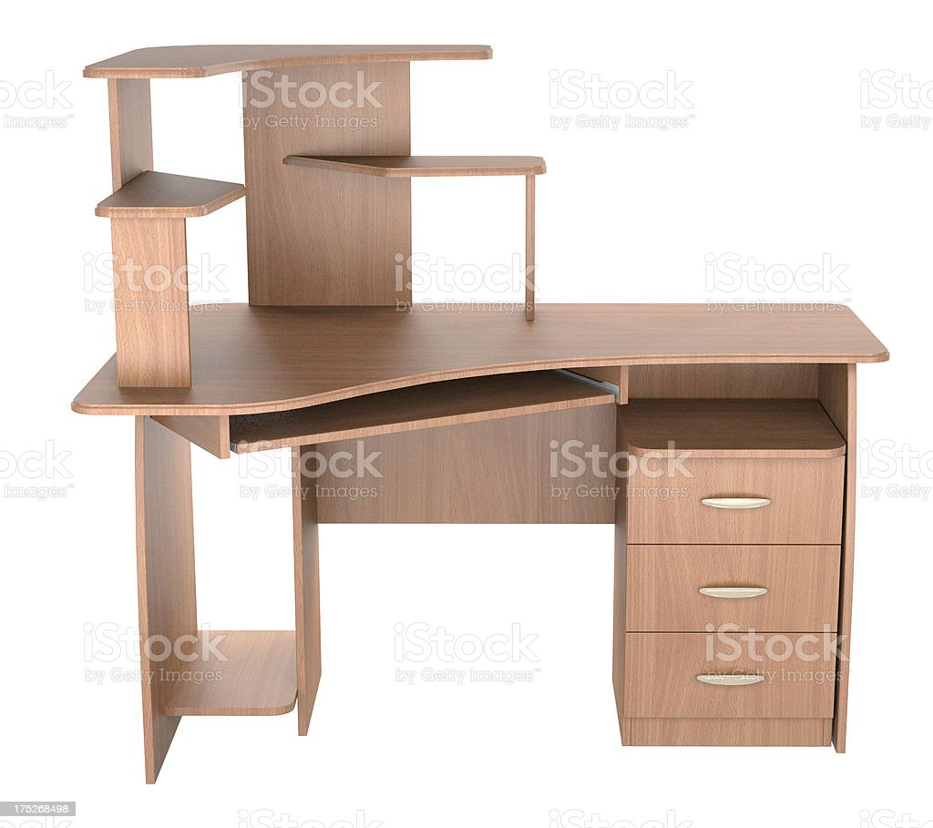 computer desk royalty-free stock photo