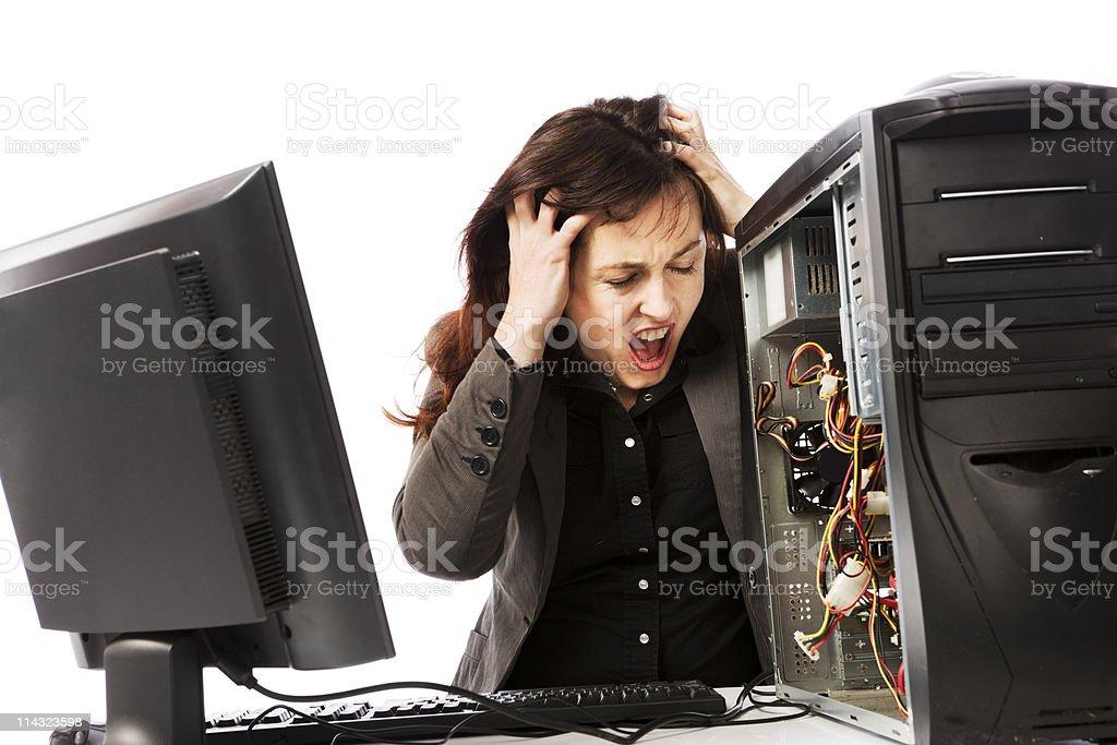Computer despair royalty-free stock photo