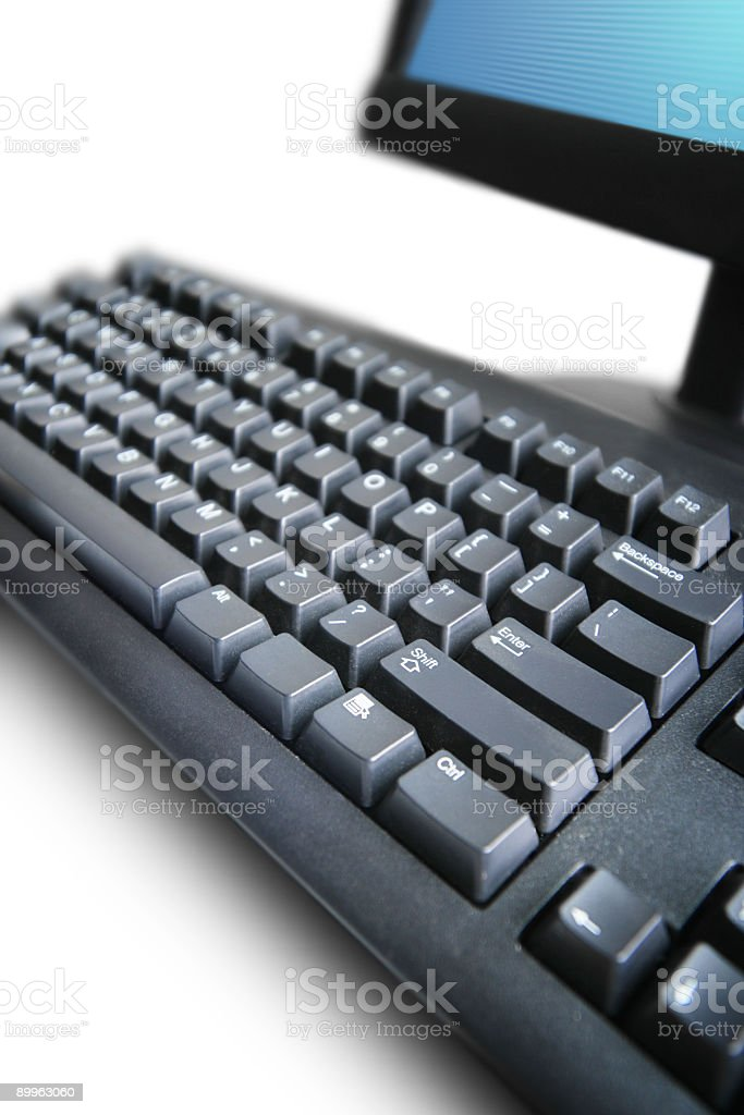Computer detail royalty-free stock photo