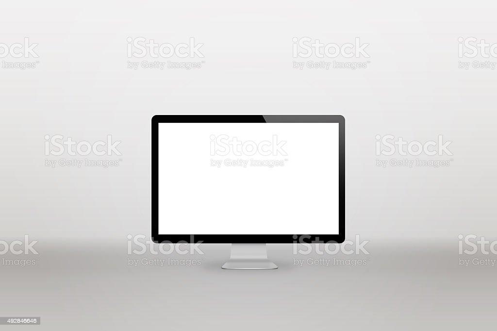 computer display gray background stock photo