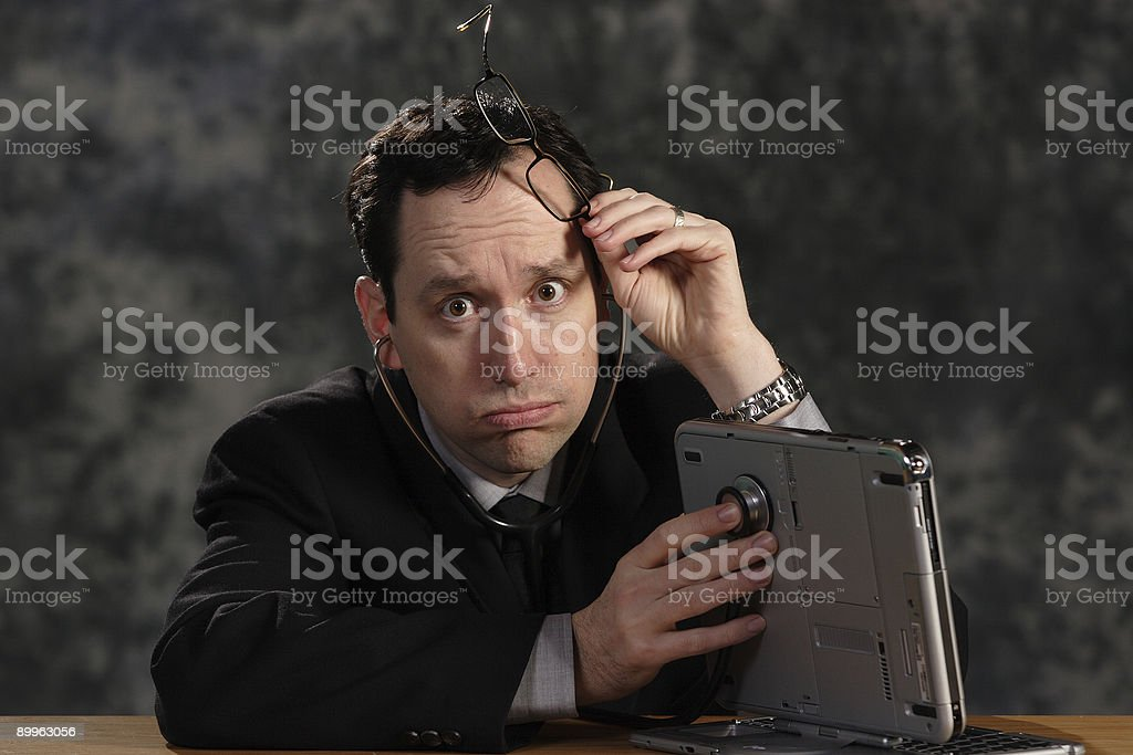 computer doctor 04 royalty-free stock photo