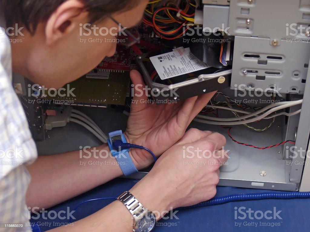 Computer Drive Repair stock photo