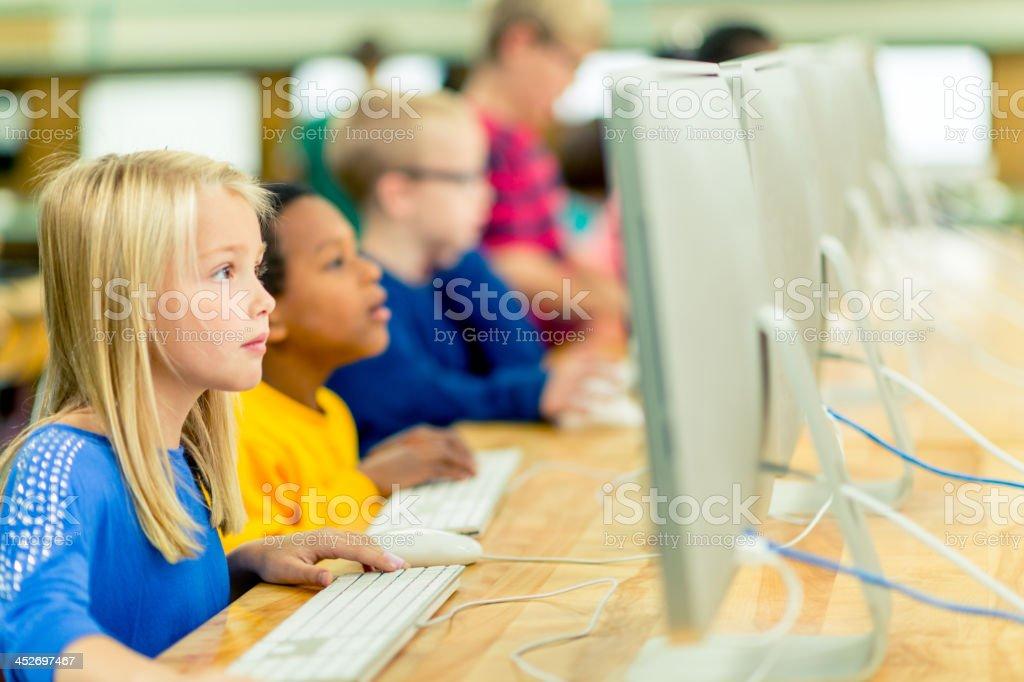 Computer education stock photo