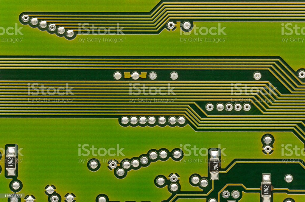 Computer / Electronic Circuit Board to show Technology. Full Frame. stock photo