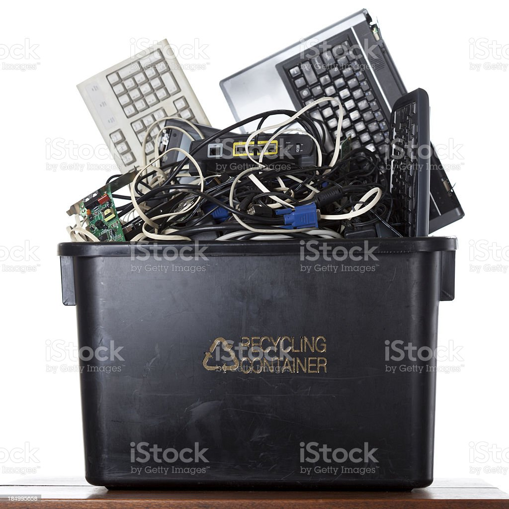 Computer Electronic Waste royalty-free stock photo