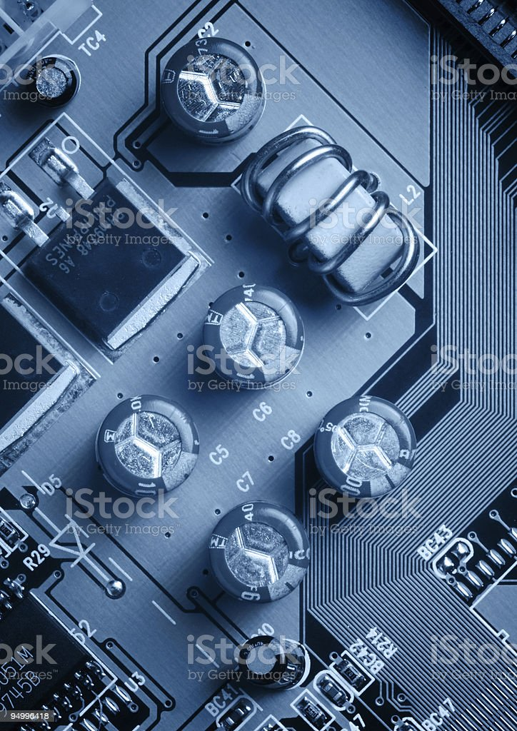 Computer Electronics Board royalty-free stock photo