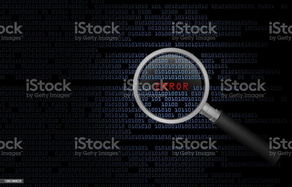 Computer Error royalty-free stock photo