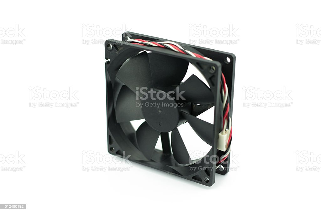 Computer fan isolated on a white background stock photo