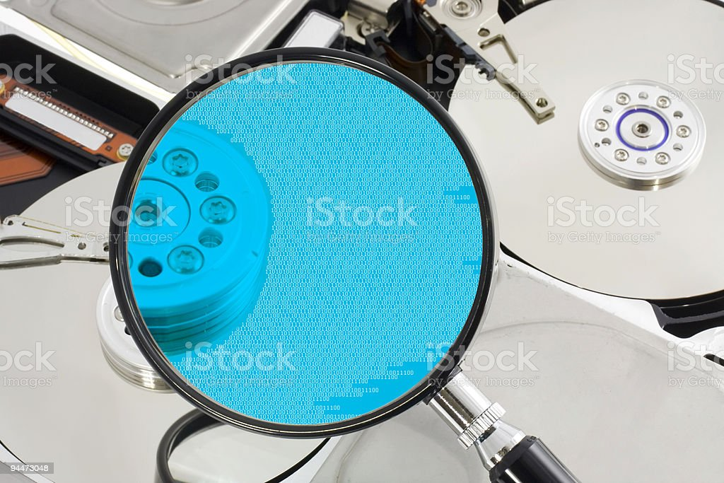Computer forensic royalty-free stock photo
