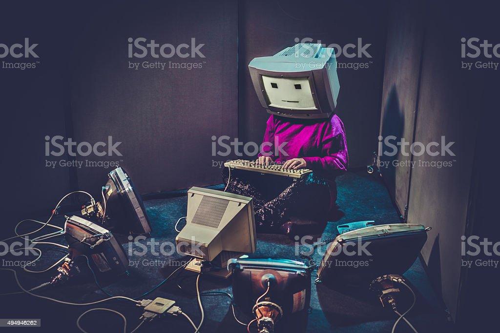 Computer Freak stock photo