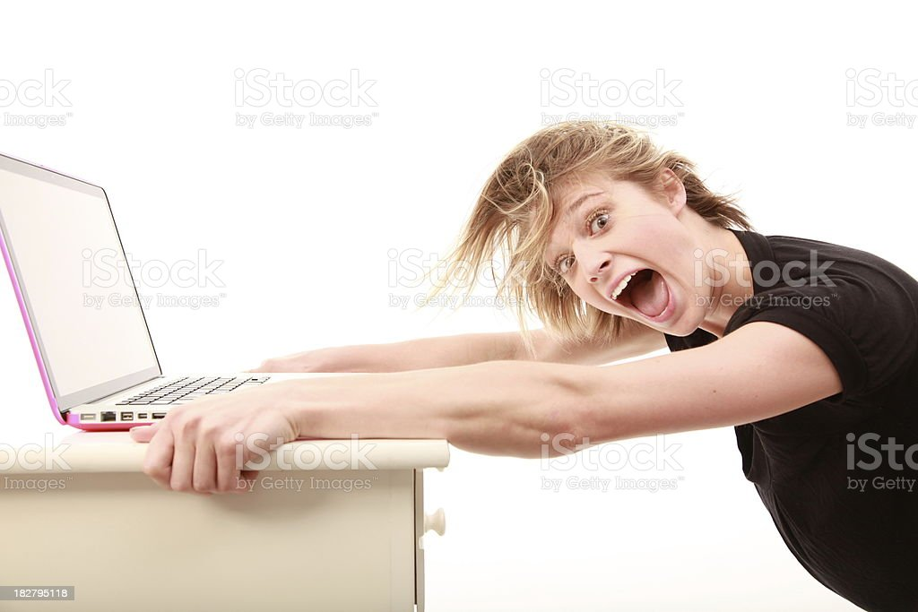 computer frustrations stock photo