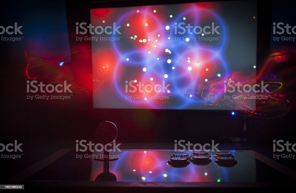 Computer game and custom made controller royalty-free stock photo