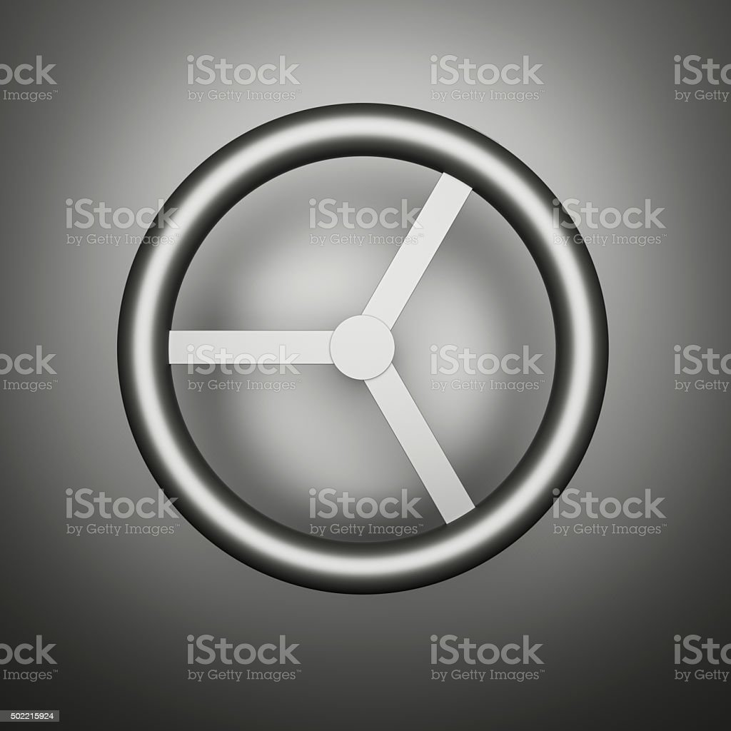 Computer generated image of a metal rotary handle stock photo
