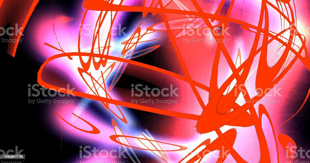 Computer generated image of psychedelic circles stock photo