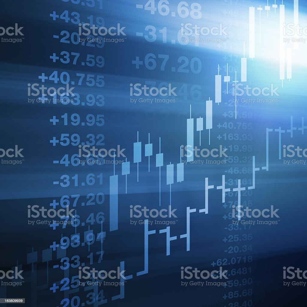 Computer generated stock market background royalty-free stock photo