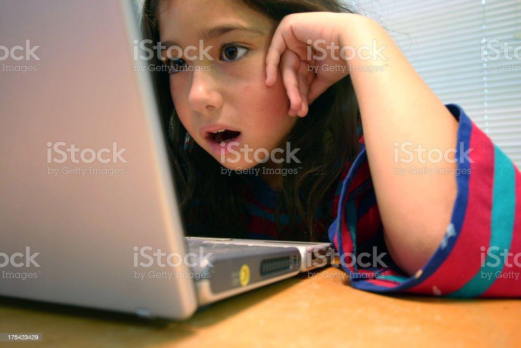 Computer girl royalty-free stock photo