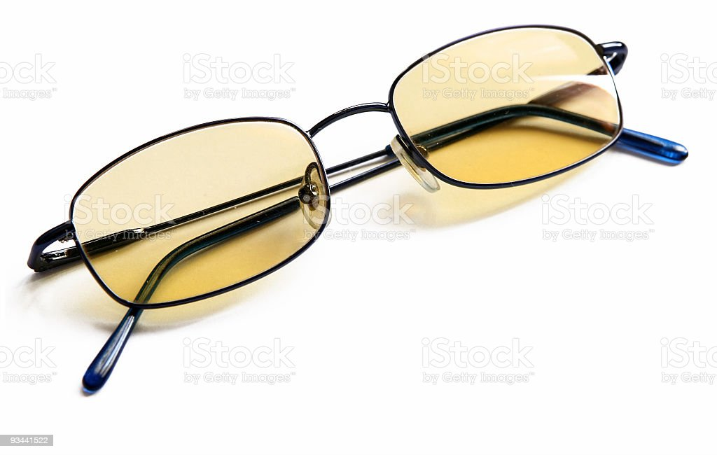 Computer glasses isolated on white royalty-free stock photo