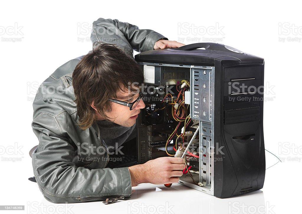 Computer guy royalty-free stock photo