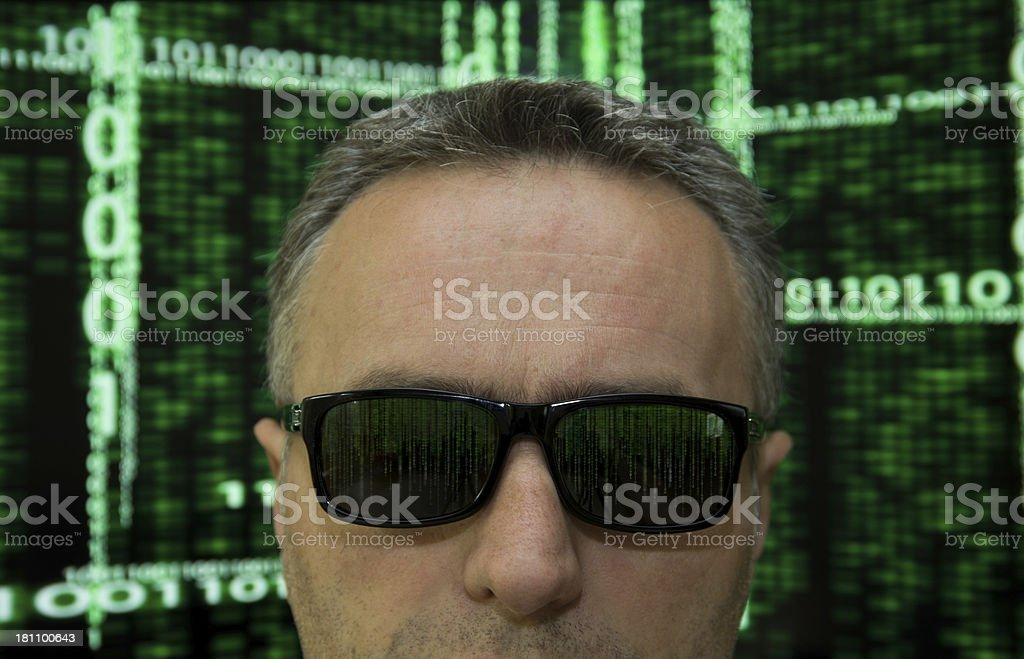 Computer hacker royalty-free stock photo