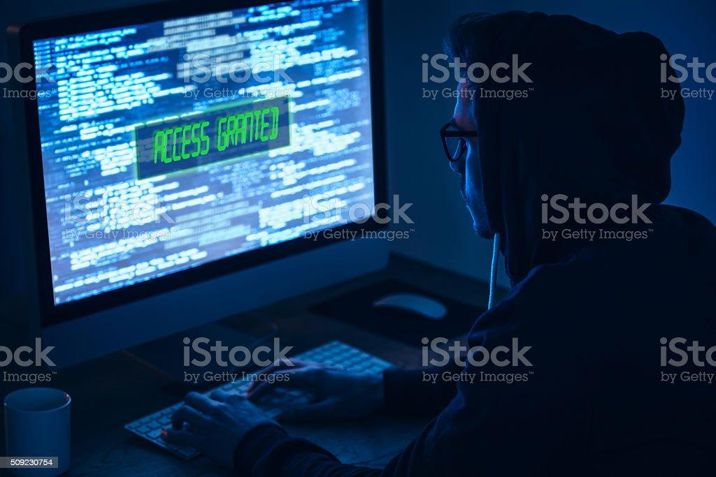 Computer hacker. stock photo