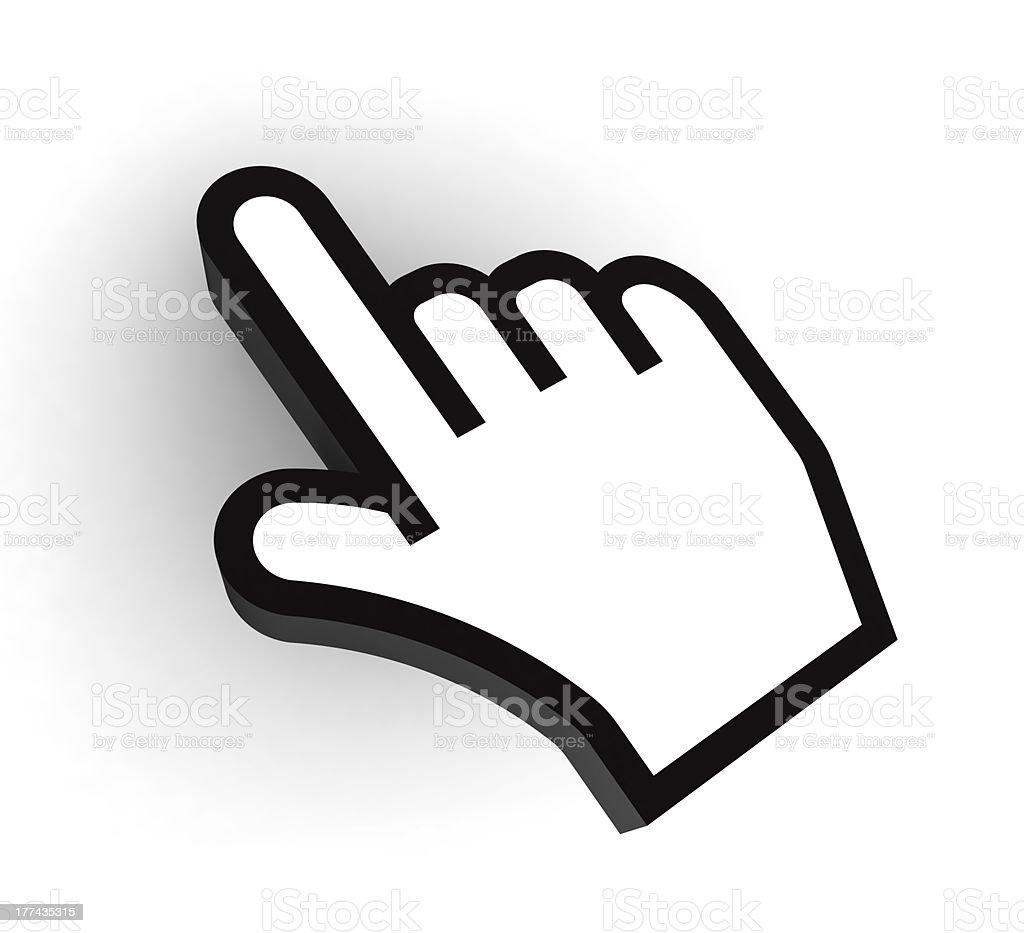 computer hand black and white stock photo