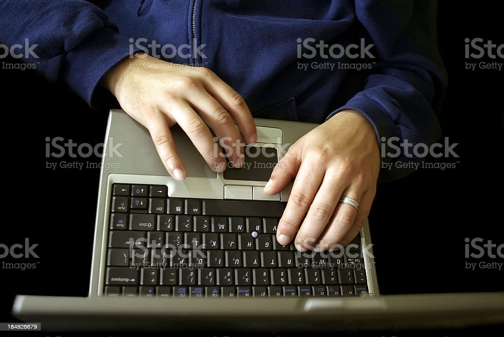 Computer Hands royalty-free stock photo