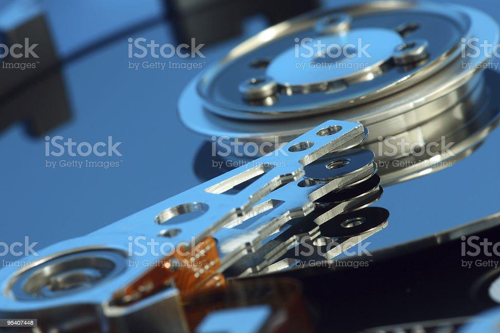 computer hard disc stock photo