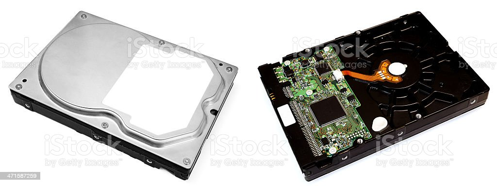 Computer Hard Disks (HDDs) royalty-free stock photo