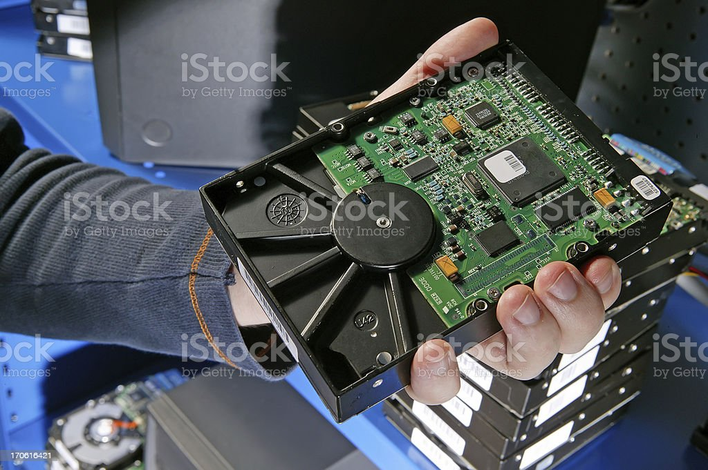 computer hard drive royalty-free stock photo