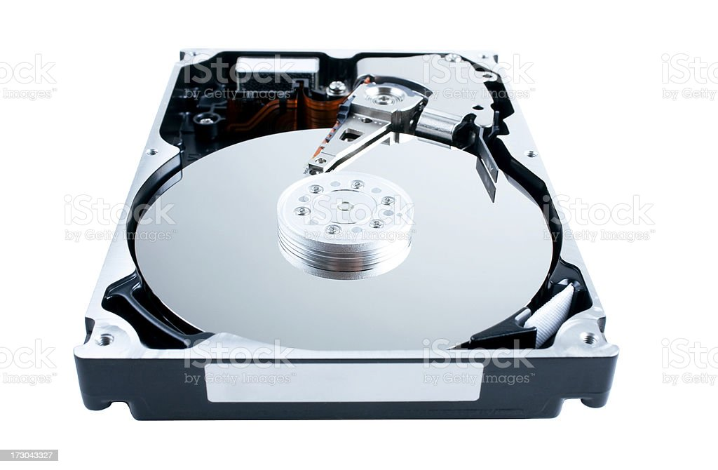 Computer Hard Drive (opened) royalty-free stock photo