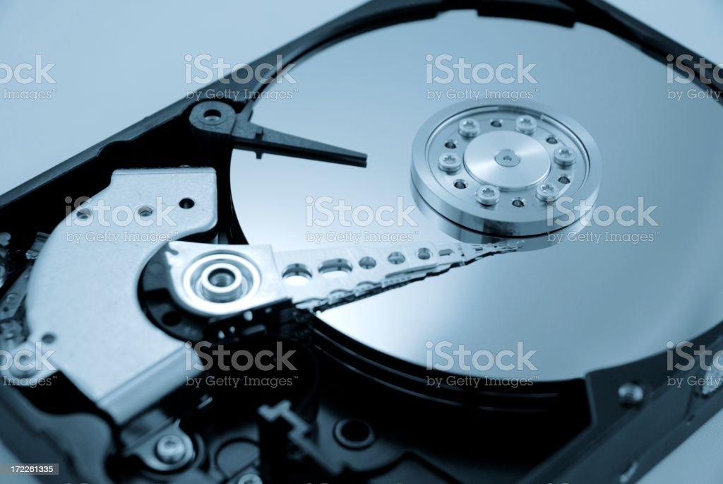 Computer Hard Drive with Blue Hue royalty-free stock photo