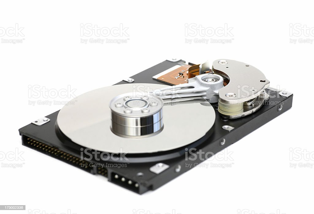 Computer harddisc, isolated on white royalty-free stock photo