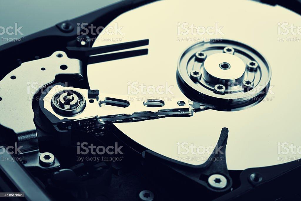 Computer harddisk drive stock photo