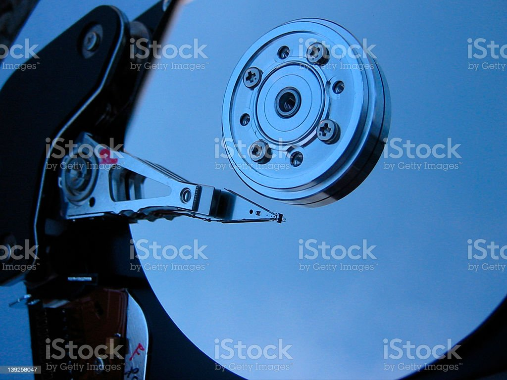 Computer hard-disk stock photo