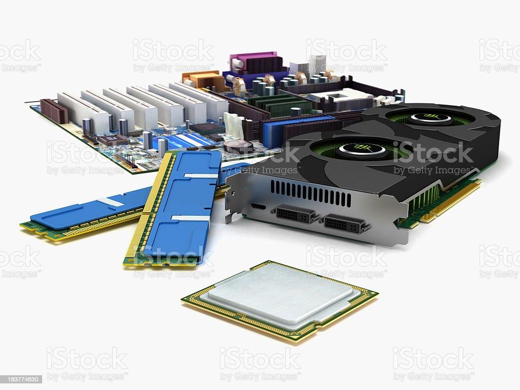 Computer hardware royalty-free stock photo