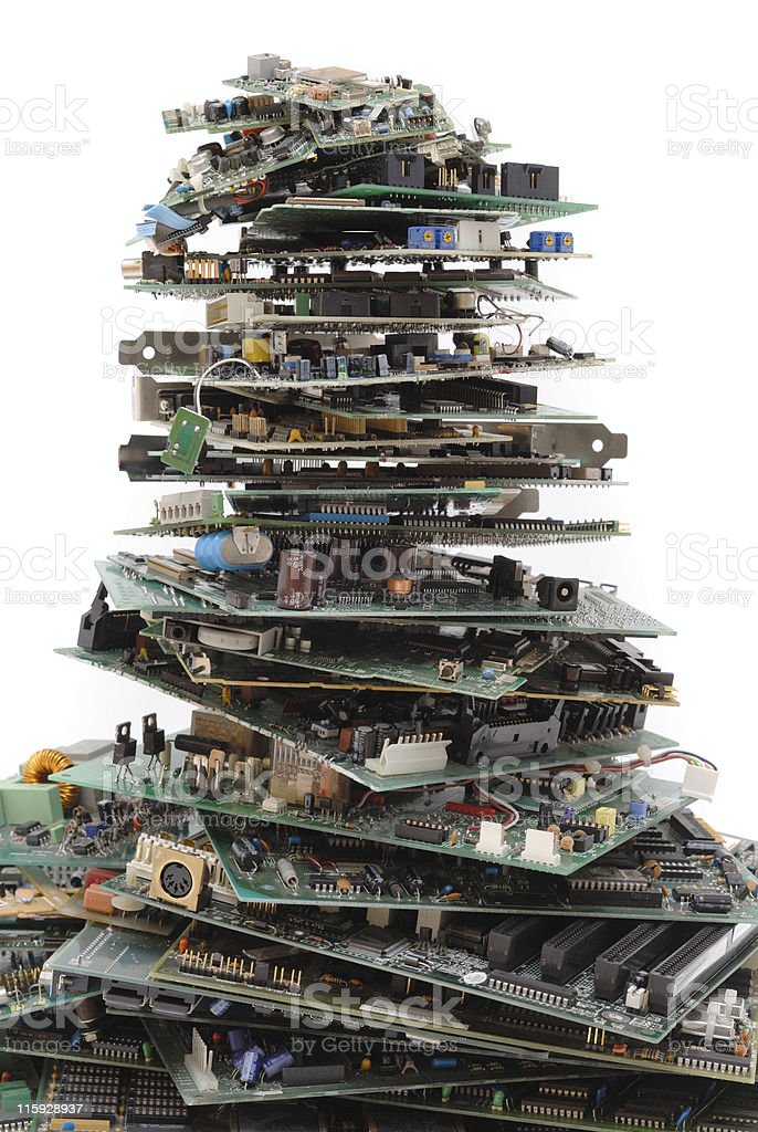 Computer hardware waste royalty-free stock photo