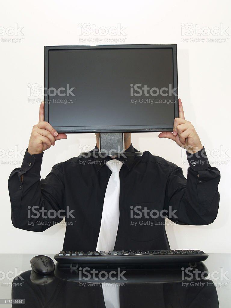 Computer head royalty-free stock photo