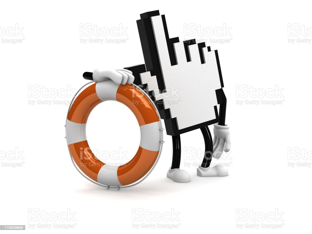 Computer help royalty-free stock photo