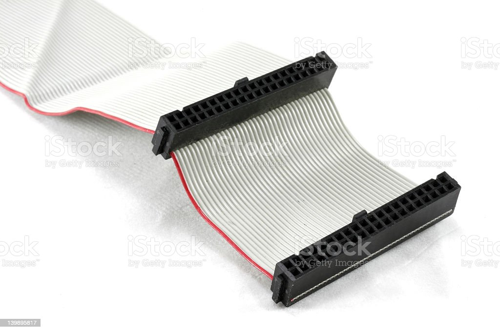 Computer IDE Cable stock photo