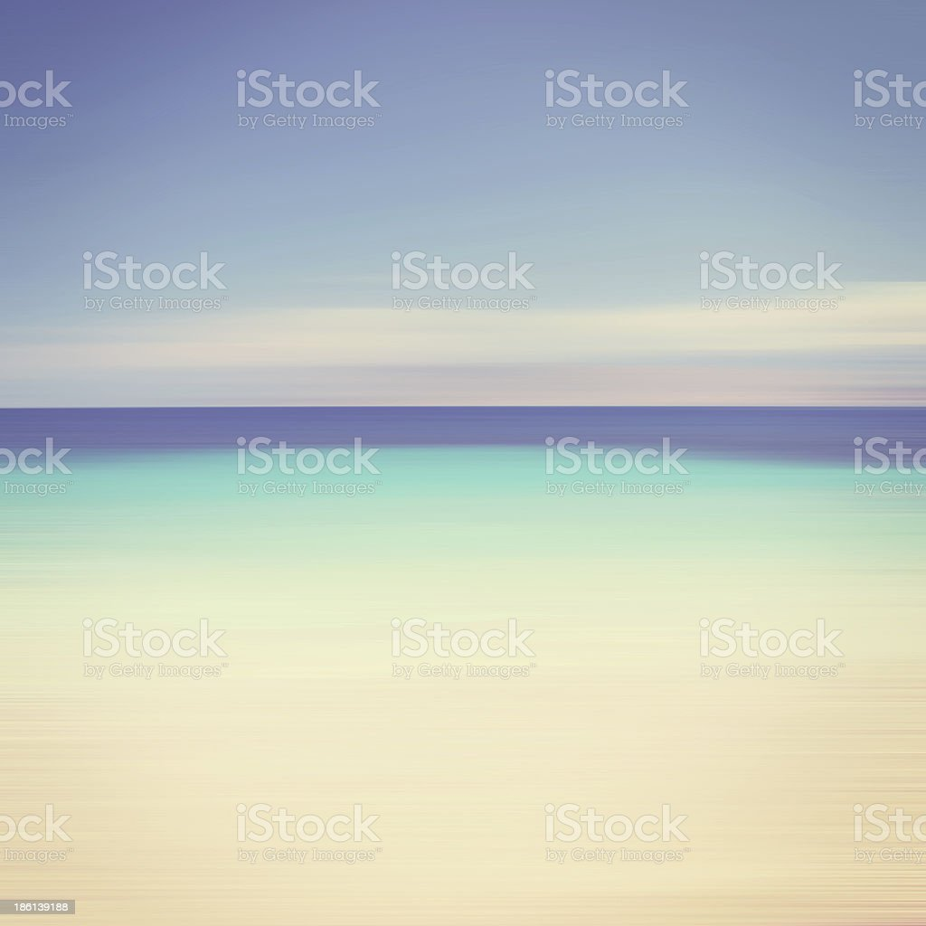 Computer illustration of ocean seascape royalty-free stock photo