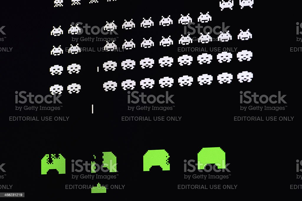 Computer image of video game stock photo