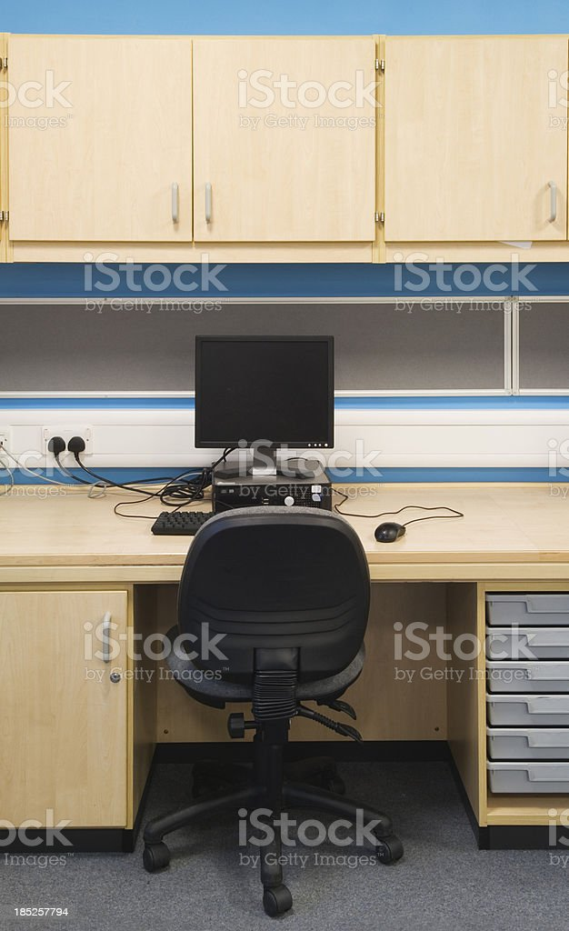 Computer in a classroom royalty-free stock photo