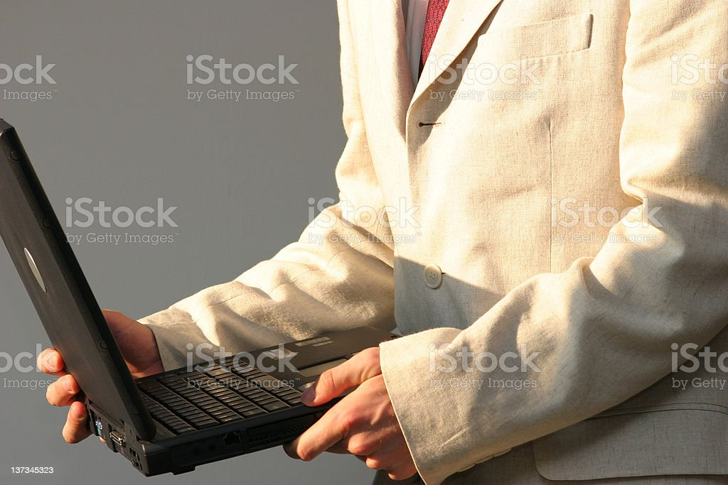 Computer in my hands royalty-free stock photo
