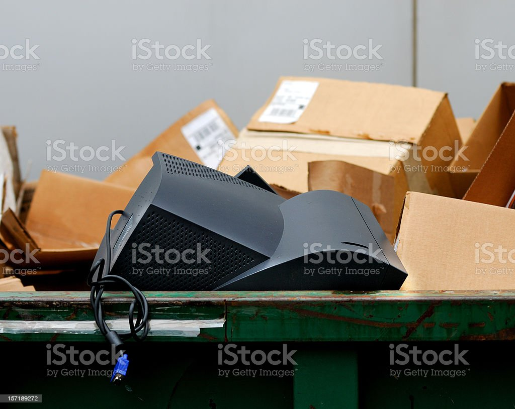 Computer in the Garbage royalty-free stock photo